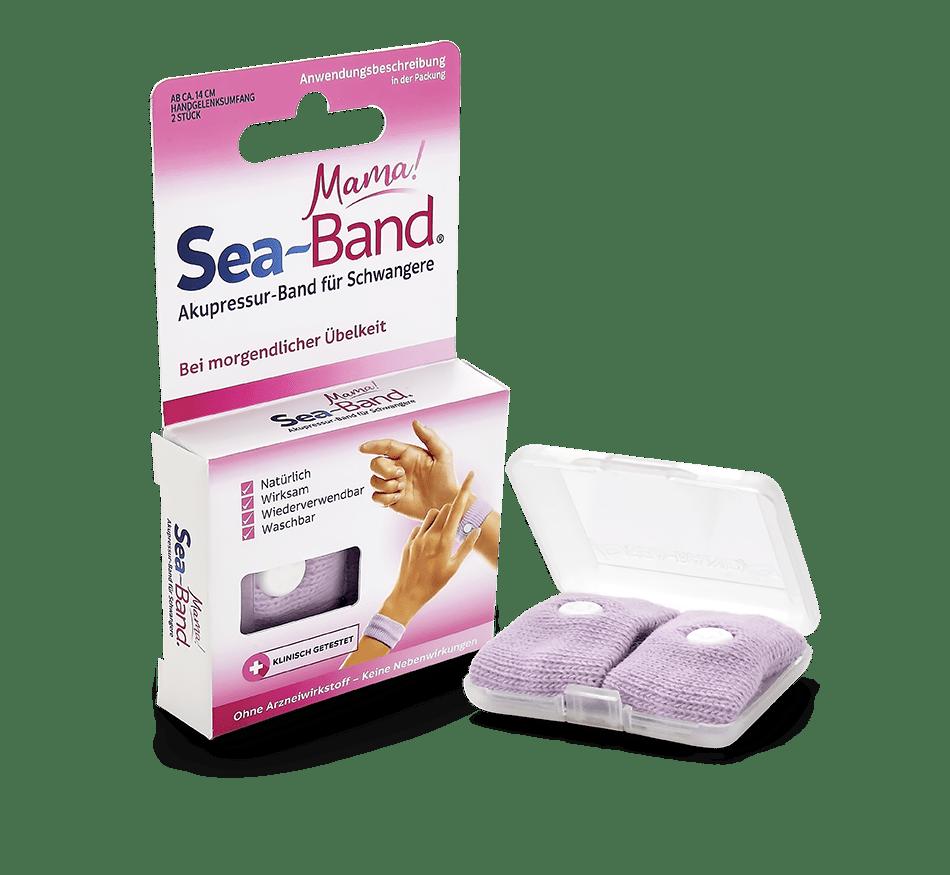 SEA-BAND mama! - Akupressurbänder gegen Übelkeit für Schwangere, rosa